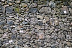 Detail of rocks in a dry stone wall. Detail/closeup of rocks in a dry stone wall Stock Photo