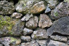 Detail of rocks in a dry stone wall. Detail/closeup of rocks in a dry stone wall Royalty Free Stock Photos