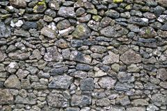 Detail of rocks in a dry stone wall. Detail/closeup of rocks in a dry stone wall Royalty Free Stock Images