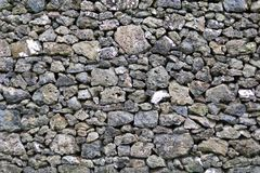 Detail of rocks in a dry stone wall. Detail/closeup of rocks in a dry stone wall Royalty Free Stock Image