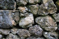 Detail of rocks in a dry stone wall. Detail/closeup of rocks in a dry stone wall Royalty Free Stock Photo