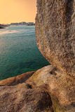 Brittany- Rocks Detail at Sunset Stock Photography