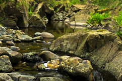 Detail of rocks in water at Black river gorge Royalty Free Stock Images