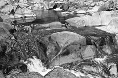 Detail of rocks in water at Black river gorge Stock Images