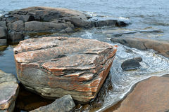 Detail of rocky coast 2. Detail of rocky coast in Finland Royalty Free Stock Image