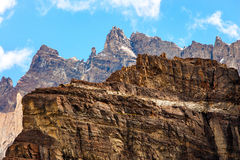 Detail of rocky mountains. Royalty Free Stock Images
