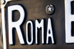 Detail of a Roma plate Royalty Free Stock Photography