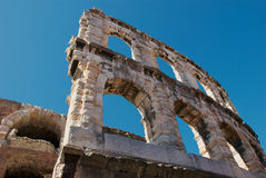 Detail of Roman amphitheater Royalty Free Stock Photography