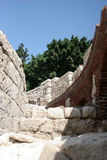 Detail of Roman amphitheatre in Alexandria Royalty Free Stock Photos