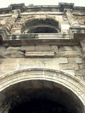 Detail of roman arena in Nimes Royalty Free Stock Photography