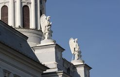 Detail of Roman Catholic Cathedral. In Arad Stock Photos