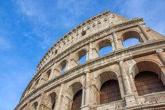 Detail from the Roman Colosseum amphiteater in Rome,. Detail from the Roman Colosseum amphitheater in Rome, Italy Stock Photography