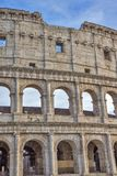 Detail from the Roman Colosseum amphiteater in Rome,. Detail from the Roman Colosseum amphitheater in Rome, Italy Royalty Free Stock Photography