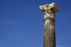 Detail of a roman column. At kourion cyprus mediterranean Royalty Free Stock Photography