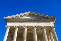 Detail of Roman temple Maison Carree Stock Image