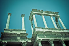 Detail of Roman Theater, Merida, Spain Royalty Free Stock Images