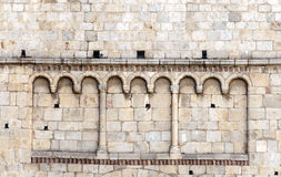 Detail of the Romanesque church Royalty Free Stock Image