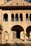 Detail of romanesque monastery of La Porta Ferrada in Sant Feliu Stock Images