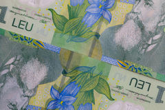 Detail of Romania Lei  money Stock Photo