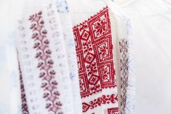 Detail of romanian traditional costume Royalty Free Stock Images