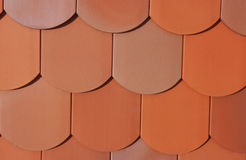 Detail of a roof. Made of plain tiles Stock Photo