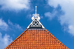Detail of the roof of an ancient Dutch farm Royalty Free Stock Photography