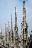 Detail roof cathedral Milan. Detail from the roof of the cathedral in Milan Royalty Free Stock Photo