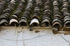 Detail of roof clay tiles Stock Photos