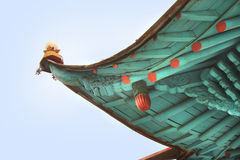 The detail of the roof Dungan mosque in the Karakol city, Kyrgyzstan Royalty Free Stock Photography
