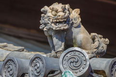 Detail on the roof of Ninomaru Palace at Nijo Castle in Kyoto. Japan Royalty Free Stock Photography