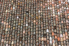 Detail of a roof with old tiles Royalty Free Stock Photography
