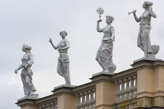 Detail of the roof of the Palace of Charlottenburg Stock Image