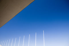 Detail of the roof and the poles Royalty Free Stock Photography