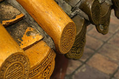 Detail roof tile Chinese temple Royalty Free Stock Images