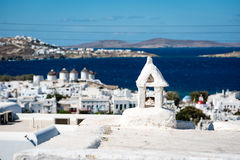 Detail of a rooftop on Mykonos Royalty Free Stock Photos