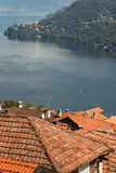 Detail of rooftops above lake Maggiore Royalty Free Stock Images