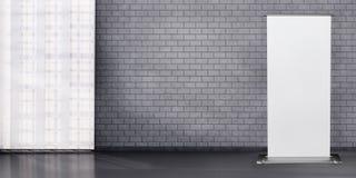 Detail of room with dark brick wall. vector illustration