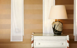 Detail room, table lamp Royalty Free Stock Image