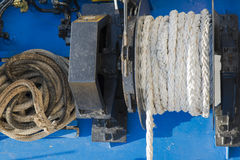 Detail of ropes and tie rods Royalty Free Stock Photos