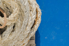 Detail of ropes and tie rods Royalty Free Stock Image
