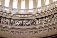 Detail of Rotunda Dome inside Capitol Building - Washington, D.C., USA Stock Photo