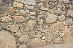 Detail of rough Inca stonework Royalty Free Stock Images