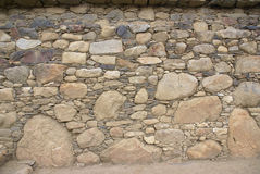 Detail of rough Inca stonework Stock Photo
