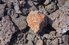Detail, rough lava from ancient volcanic eruption, Royalty Free Stock Photos