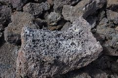 Detail, rough lava from ancient volcanic eruption, Royalty Free Stock Photography