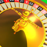 Detail of the roulette stock photography