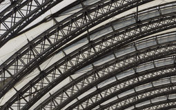 Detail of Rounded Ceiling with Support Beams Royalty Free Stock Photo