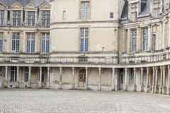 Detail of Royal hunting castle  in Fontainebleau, France. Stock Photography