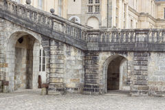 Detail of Royal hunting castle  in Fontainebleau, France. Stock Image