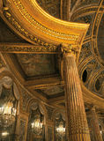 Detail of the royal opera ceiling at Versailles Palace Stock Images